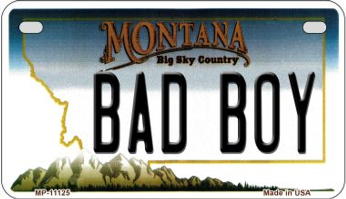 Bad Boy Montana Novelty Metal Motorcycle Plate MP-11125