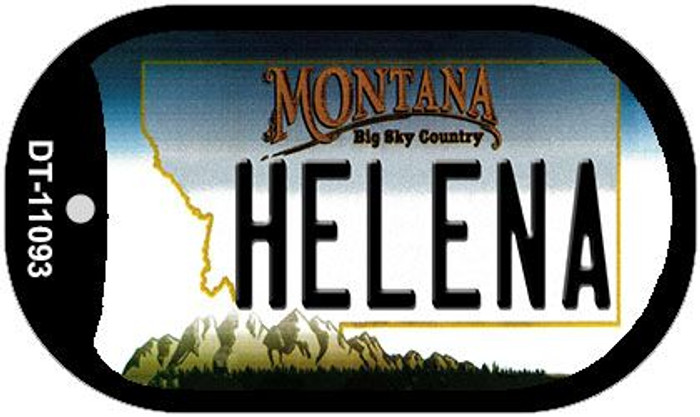 Helena Montana Novelty Metal Dog Tag Necklace DT-11093