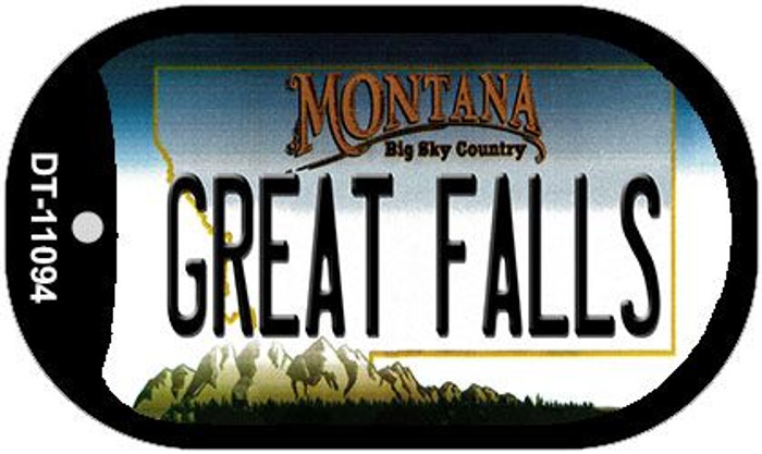 Great Falls Montana Novelty Metal Dog Tag Necklace DT-11094