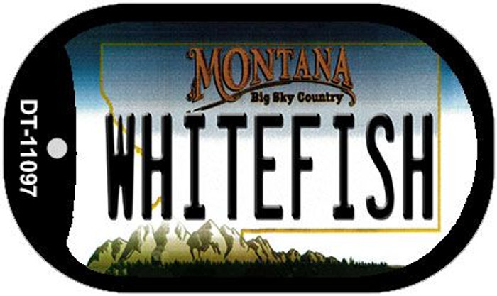Whitefish Montana Novelty Metal Dog Tag Necklace DT-11097