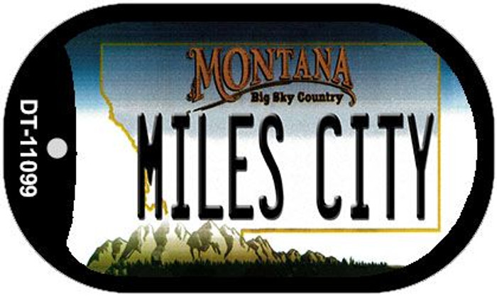 Miles City Montana Novelty Metal Dog Tag Necklace DT-11099