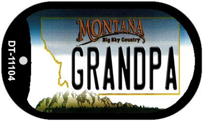 Grandpa Montana Novelty Metal Dog Tag Necklace DT-11104