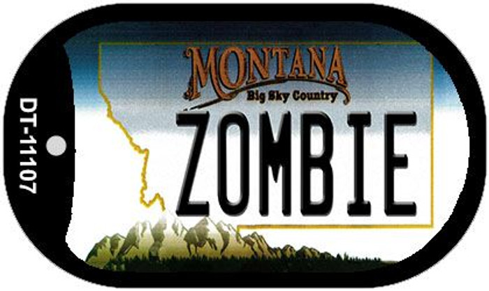 Zombie Montana Novelty Metal Dog Tag Necklace DT-11107