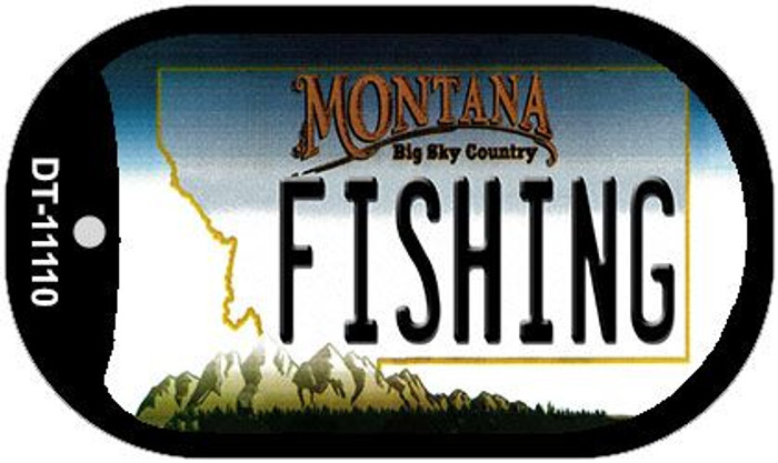 Fishing Montana Novelty Metal Dog Tag Necklace DT-11110