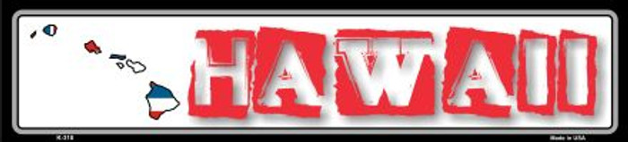 Hawaii State Outline Novelty Metal Vanity Small Street Sign