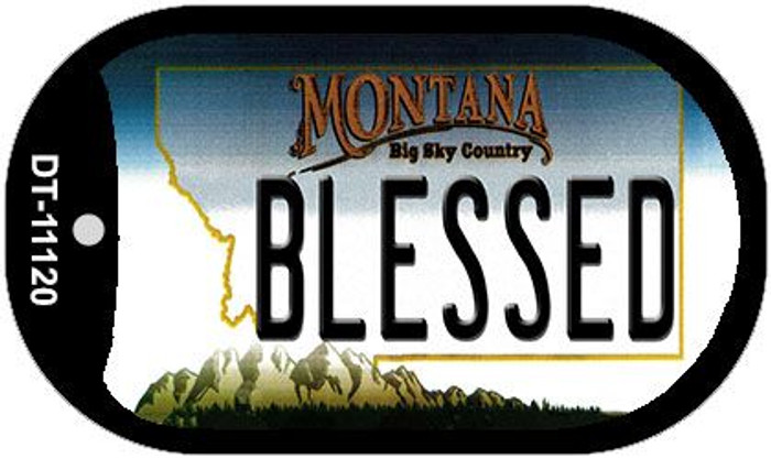 Blessed Montana Novelty Metal Dog Tag Necklace DT-11120