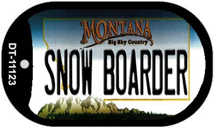 Snow Boarder Montana Novelty Metal Dog Tag Necklace DT-11123