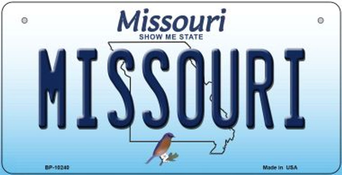 Missouri Novelty Metal Bicycle Plate BP-10240