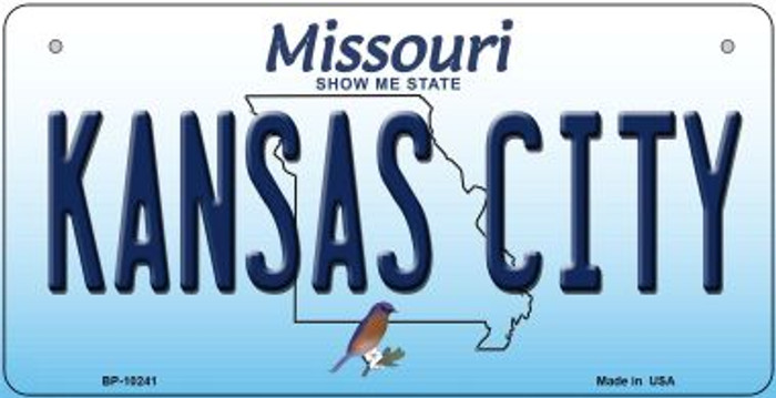 Kansas City Missouri Novelty Metal Bicycle Plate BP-10241
