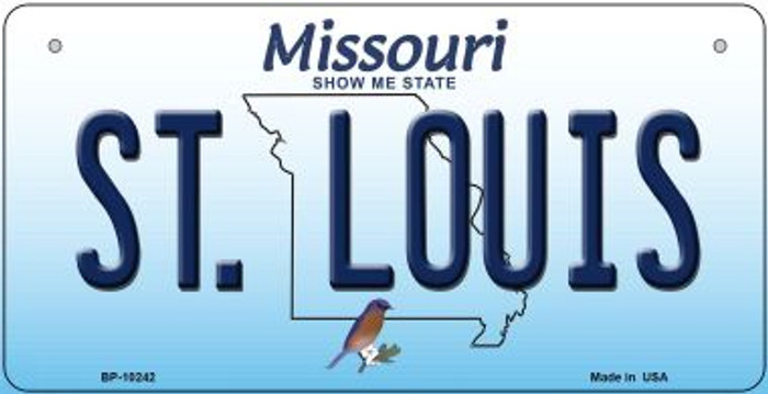 St. Louis Missouri Novelty Metal Bicycle Plate BP-10242