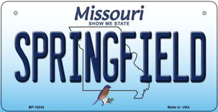 Springfield Missouri Novelty Metal Bicycle Plate BP-10243