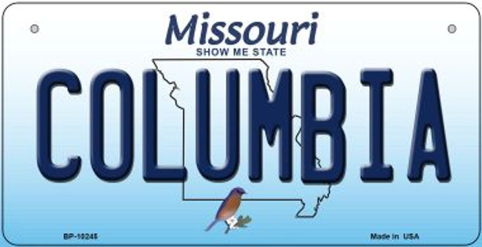 Columbia Missouri Novelty Metal Bicycle Plate BP-10245