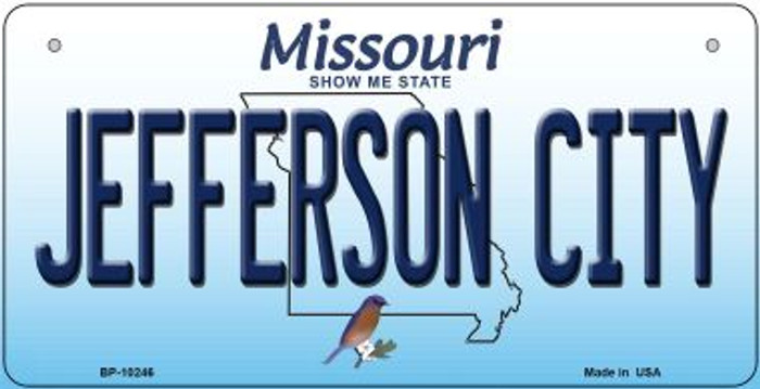 Jefferson City Missouri Novelty Metal Bicycle Plate BP-10246