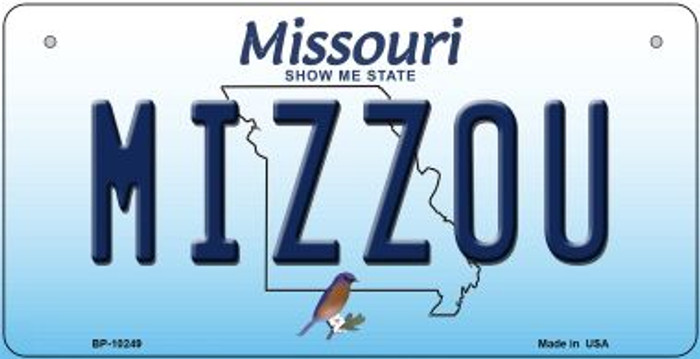 Mizzou Missouri Novelty Metal Bicycle Plate BP-10249