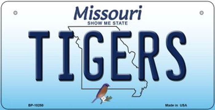 Tigers Missouri Novelty Metal Bicycle Plate BP-10250