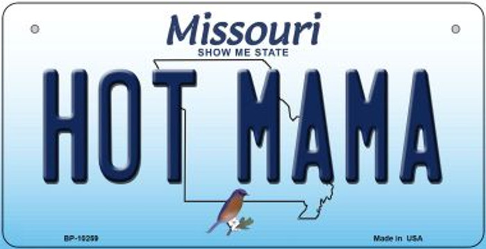 Hot Mama Missouri Novelty Metal Bicycle Plate BP-10259
