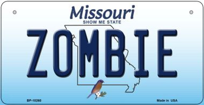 Zombie Missouri Novelty Metal Bicycle Plate BP-10260