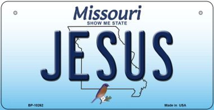 Jesus Missouri Novelty Metal Bicycle Plate BP-10262