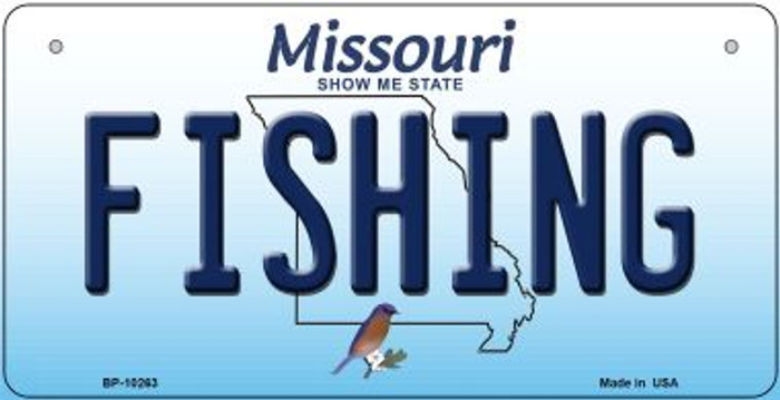 Fishing Missouri Novelty Metal Bicycle Plate BP-10263