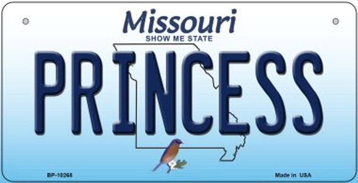 Princess Missouri Novelty Metal Bicycle Plate BP-10268