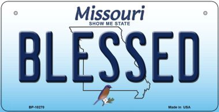 Blessed Missouri Novelty Metal Bicycle Plate BP-10270