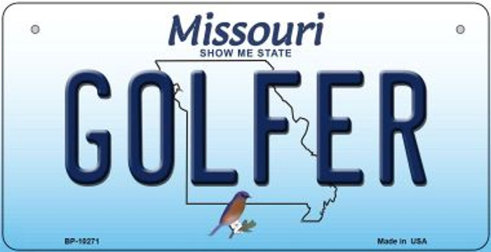 Golfer Missouri Novelty Metal Bicycle Plate BP-10271