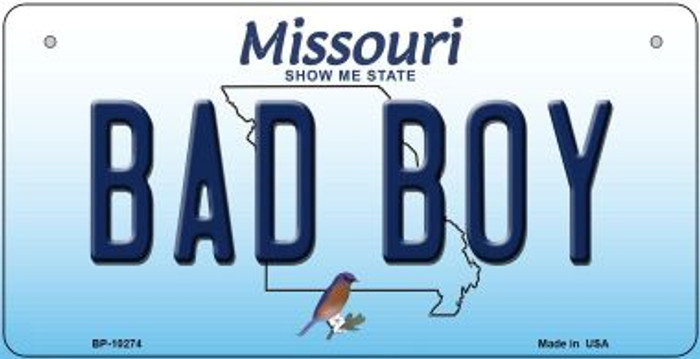 Bad Boy Missouri Novelty Metal Bicycle Plate BP-10274