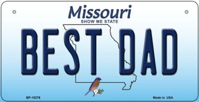 Best Dad Missouri Novelty Metal Bicycle Plate BP-10276