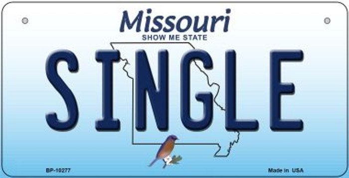 Single Missouri Novelty Metal Bicycle Plate BP-10277