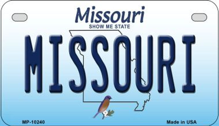 Missouri Novelty Metal Motorcycle Plate MP-10240
