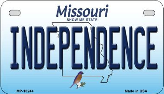 Independence Missouri Novelty Metal Motorcycle Plate MP-10244
