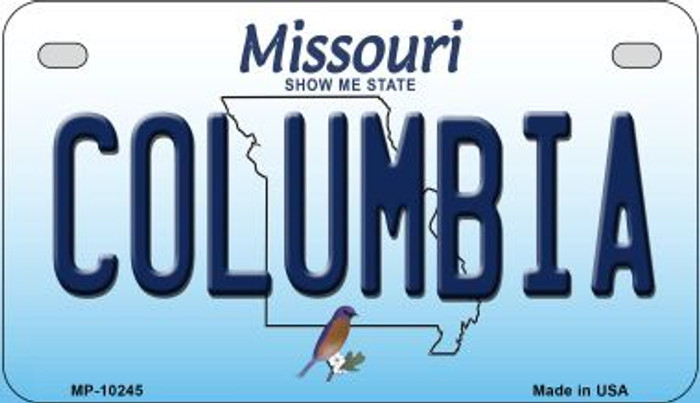 Columbia Missouri Novelty Metal Motorcycle Plate MP-10245