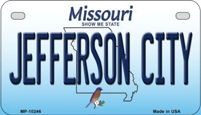 Jefferson City Missouri Novelty Metal Motorcycle Plate MP-10246