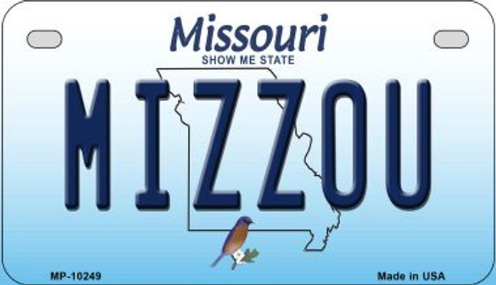 Mizzou Missouri Novelty Metal Motorcycle Plate MP-10249