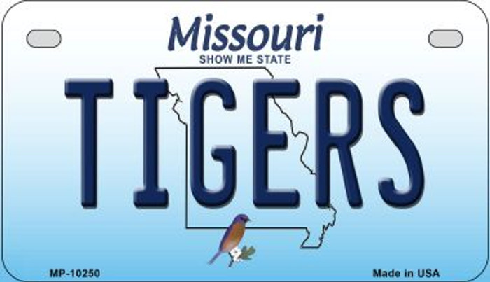 Tigers Missouri Novelty Metal Motorcycle Plate MP-10250