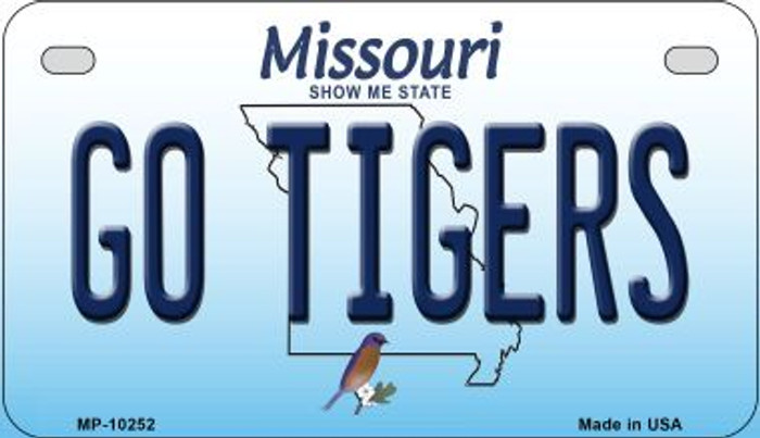 Go Tigers Missouri Novelty Metal Motorcycle Plate MP-10252