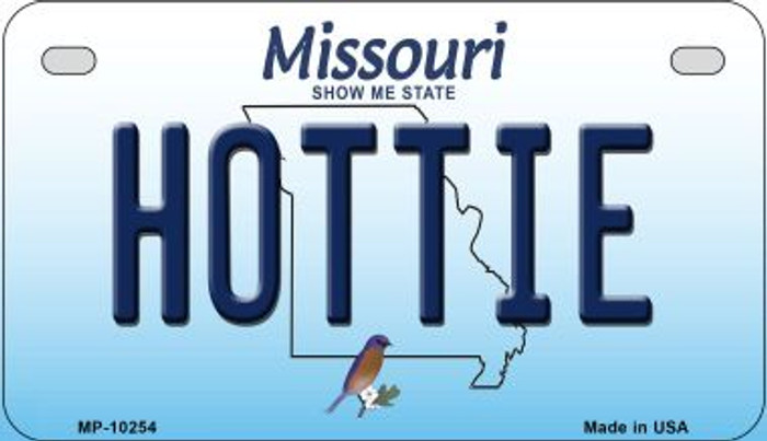 Hottie Missouri Novelty Metal Motorcycle Plate MP-10254