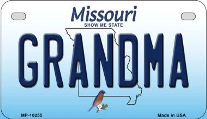 Grandma Missouri Novelty Metal Motorcycle Plate MP-10255