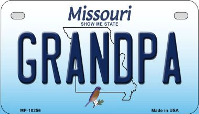 Grandpa Missouri Novelty Metal Motorcycle Plate MP-10256