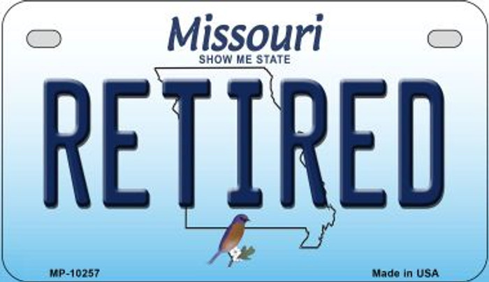 Retired Missouri Novelty Metal Motorcycle Plate MP-10257