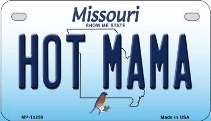 Hot Mama Missouri Novelty Metal Motorcycle Plate MP-10259
