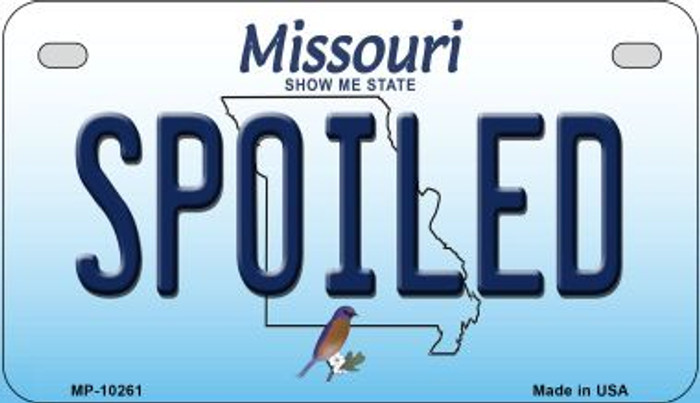 Spoiled Missouri Novelty Metal Motorcycle Plate MP-10261