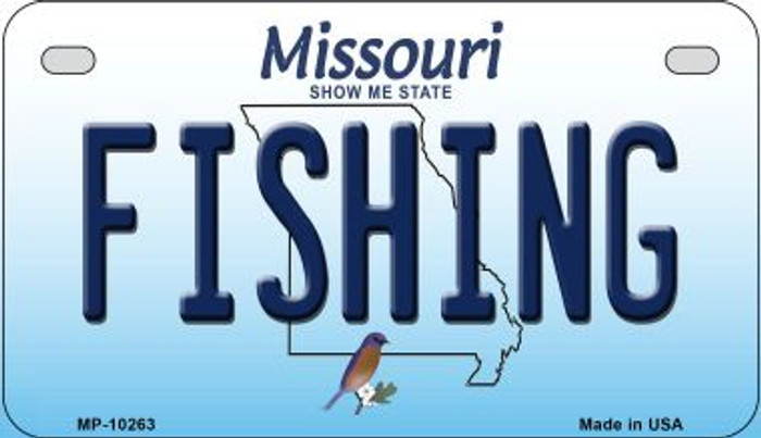 Fishing Missouri Novelty Metal Motorcycle Plate MP-10263