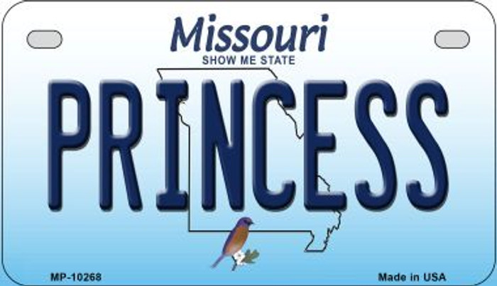 Princess Missouri Novelty Metal Motorcycle Plate MP-10268
