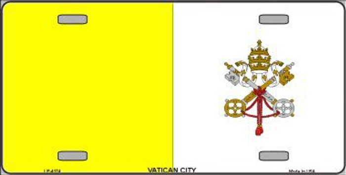 Vatican City Flag Metal Novelty License Plate LP-4174