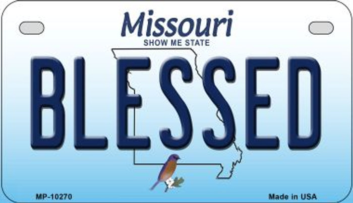 Blessed Missouri Novelty Metal Motorcycle Plate MP-10270
