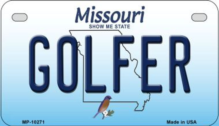 Golfer Missouri Novelty Metal Motorcycle Plate MP-10271