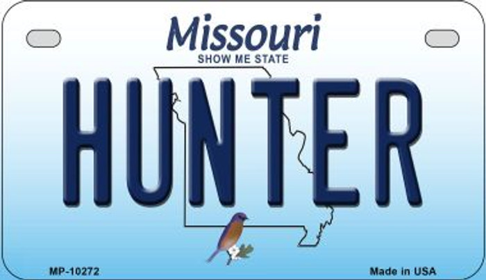Hunter Missouri Novelty Metal Motorcycle Plate MP-10272