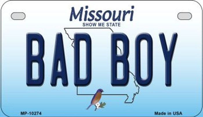 Bad Boy Missouri Novelty Metal Motorcycle Plate MP-10274
