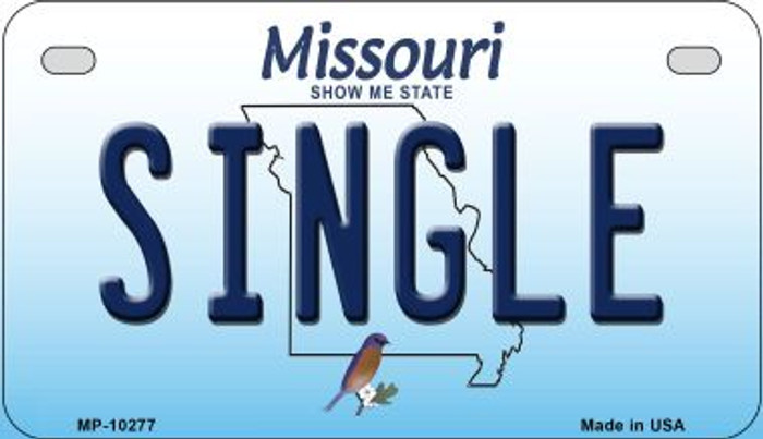 Single Missouri Novelty Metal Motorcycle Plate MP-10277